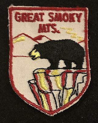 GREAT SMOKY MOUNTAINS Vintage Patch TENNESSEE State Souvenir Travel VOYAGER