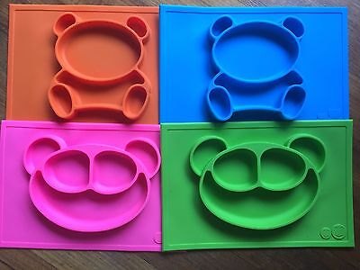 Baby Silicone All in One  Mealtime Placemat Plate BPA Free