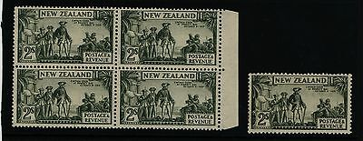 New Zealand stamps 1935-42 2/- Cook - 5 x MNH