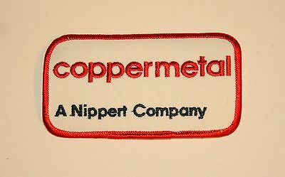 Vintage Coppermetal A Nippert Company Employee Patch New NOS 1970s copper
