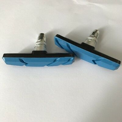 Blue Mountain Bike Road Cycling Rubber V Brake Holder Shoes Pads Accessories*2