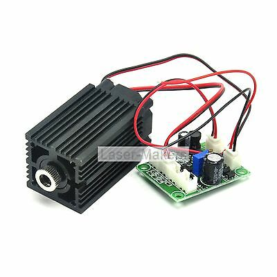 650nm 200mw Red Dot Focusable Laser Diode Module +Driver +Fan Cool + TTL 0-20KHz