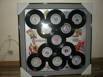 The Partridge Family-Record Collage Art Piece-22x22-FRAMED/David Cassidy