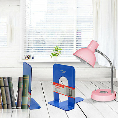 Tenwin T Shape Blue Bookends Support Book Stationary Office School Supplies WD