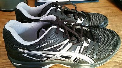 Asics Gel Rocket 7 Volleyball Women's Shoes Size 8 1/2 8.5 Black Onyx/Silver