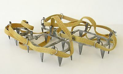 Ancienne paire de crampons 10 pointes - CHARLET MOSER - France - 2 gauches