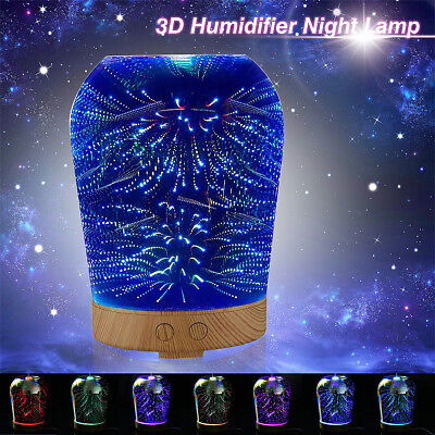 3D Star Lighting Essential Oil Aroma Diffuser Ultrasonic Humidifier Aromatherapy