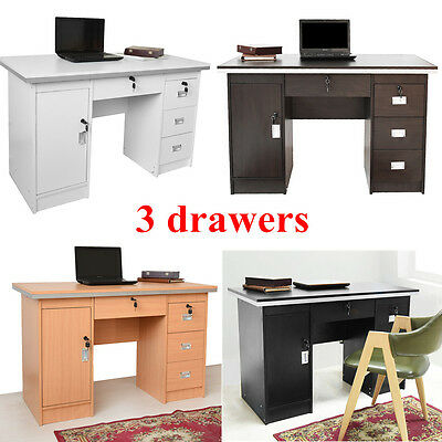 Panana Computer Desk PC Table & 3 drawers For Home Office Furniture/Workstation