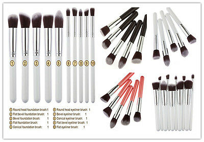 Make up Brush Set 10pcs Kabuki Style Professional Foundation Blusher Face Powder