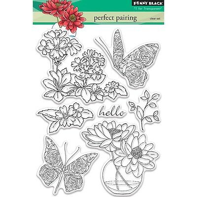 """Penny Black Clear Stamps 5""""X7.5"""" Sheet - Perfect Pairing"""
