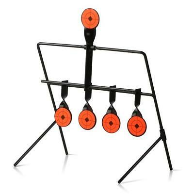 5 Targets Self Resetting Spinning Air Gun Rifle Shooting Metal Targe Set