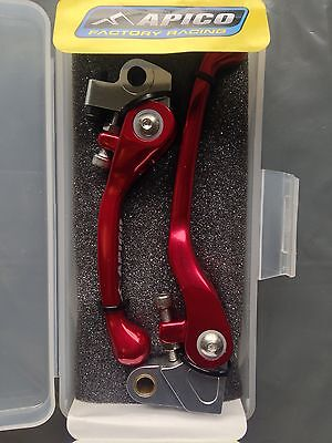 Apico Flexi Lever Set Red Clutch Lever Brake Lever For Honda CRF 450R 2007-2016