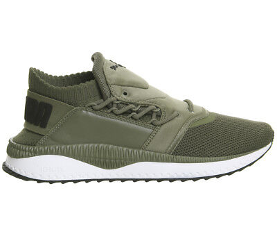 Puma Tsugi Shinsei  OLIVE WHITE Trainers Shoes