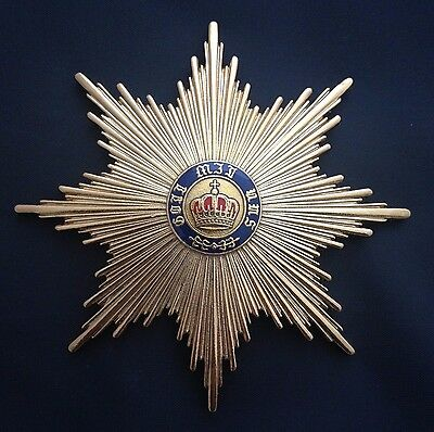 Museum Quality Grand Cross Star  Order Of Merit Of The Prussian Crown 1901