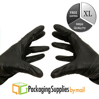 Disposable Black Nitrile Gloves Powder & Latex Free 3.5 Mil X-large 6000 Pieces