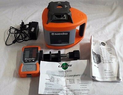Nedo Sirius 1H rotating laser level in case with receiver, clamp and charger