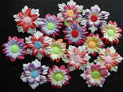 15 x Mulberry Paper FLOWERS MPFF30 - 30-35mm Scrapbook Craft Card embellishments