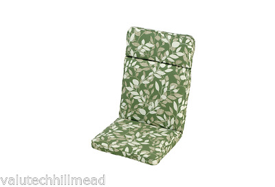 IM LEISURE Mixed Materials Cotswold Leaf High Recliner Cushion - Green