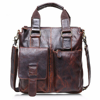 Men Bag Buffalo Leather Messenger Satchel Laptop Briefcase Shoulder Bag CA