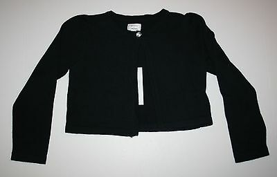 New Gymboree Classic Black Cropped Gem Cardigan Sweater Size M 7-8 NWT Royal Red
