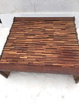 Rosewood Percival Lafer Brazilian Glass Lounge Table 70s