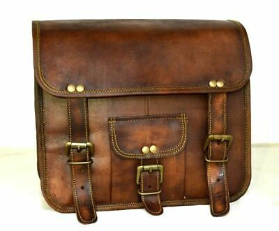 Left 1 Side Bag Motorcycle Tool Bags for Sportscaster Leather Pouch Brown 1 bag