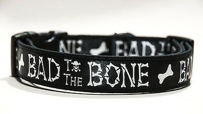 Bad To The Bone Collar Perro Hecho A Mano HandMade Dog Collar