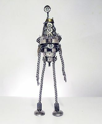 Unique Recycled Metal Robot Sculpture (Alien Overlord Named Martel)