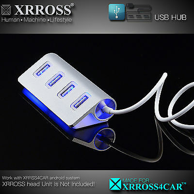 XRROSS USB Hub 2.0 for Android Car audio Radio Play 1 and 2 DIN