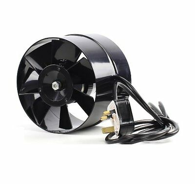 """4 5 6"""" In Line Hydroponic Grow Room Air Input Tent Fan Green Room 100 125 150mm"""