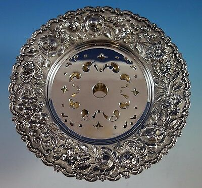 Repousse by Schultz Sterling Silver Butter Dish with Pierced Insert (#1505)