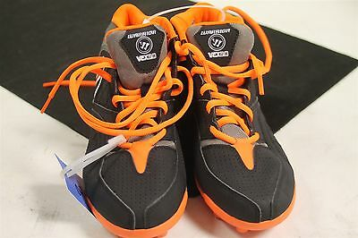 Warrior Vex 2.0 Jr Youth Size 3M US Lacrosse Cleats WJVEX2B0 New Black/Orange