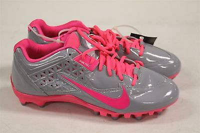 Nike Speedlax 4 Stealth Lacrosse Cleats Women's Size 12 US Pink/Gray New