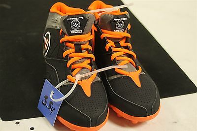 Warrior Vex 2.0 Jr Youth Size 3.5M US Lacrosse Cleats WJVEX2B0 New Black/Orange