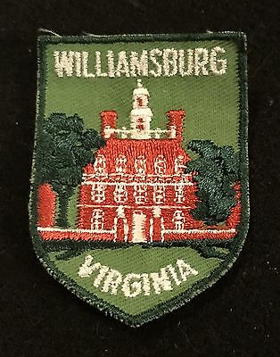WILLIAMSBURG Vtg Patch VIRGINIA State Souvenir Travel VOYAGER Embroidered