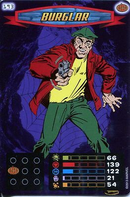 Spiderman Heroes And Villains Card #193 Burglar