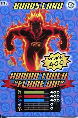 Spiderman Heroes And Villains Card #236 Human Torch Flame On