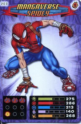 Spiderman Heroes And Villains Card #203 Mangaverse Spidey