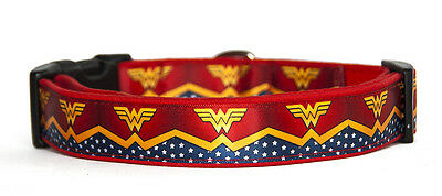 Wonder Woman Dc Comics Collar Perro Hecho A Mano HandMade Dog Collar