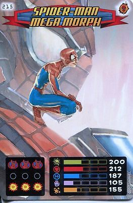 Spiderman Heroes And Villains Card #215 Spider-Man Mega Morph
