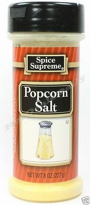 Spice Supreme® BUTTER FLAVOR POPCORN SALT new & fresh USA MADE seasoning spices
