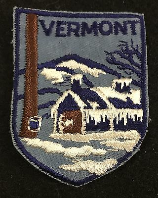 VERMONT Vintage Patch State Maple Syrup Souvenir Travel VOYAGER Embroidered