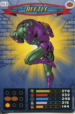 Spiderman Heroes And Villains Card #063 Beetle