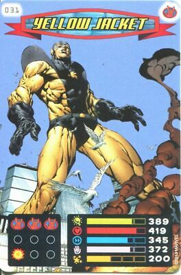 Spiderman Heroes And Villains Card #031 Yellow Jacket