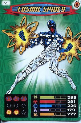 Spiderman Heroes And Villains Card #223 Cosmic Spidey