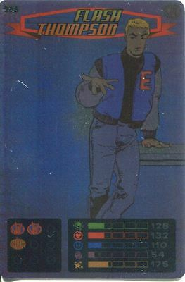 Spiderman Heroes And Villains Card #085 Flash Thompson Foil