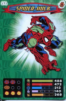 Spiderman Heroes And Villains Card #191 Spider-Hulk