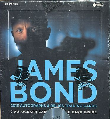 James Bond Autographs And Relics Factory Sealed Hobby Box 24 Packs