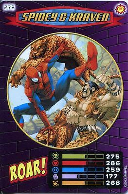 Spiderman Heroes And Villains Card #272 Spidey & Kraven