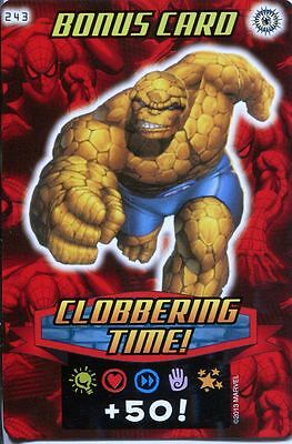 Spiderman Heroes And Villains Card #243 Clobbering Time